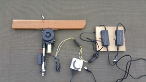 Part for new door opener - motorized car antenna, 2 computer power supplies, timer, trailer wiring harness